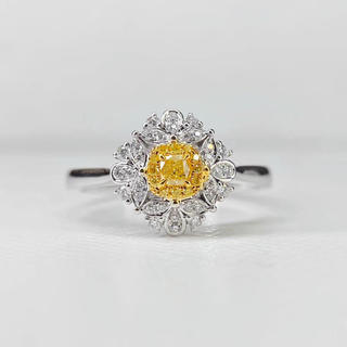 ファンシーイエローのお花キュートリング(リング(指輪))