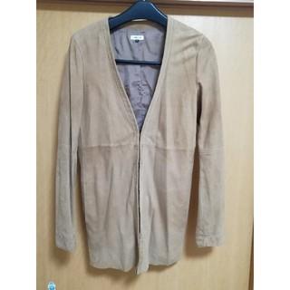ルシェルブルー(LE CIEL BLEU)のルシェルブルー LE CIEL BLUE 山羊革ジャケット(ノーカラージャケット)