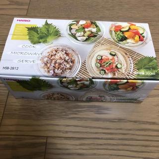 ハリオ(HARIO)の新品 日本製 ハリオ 耐熱 ガラス サラダ ボウル 4つ(食器)