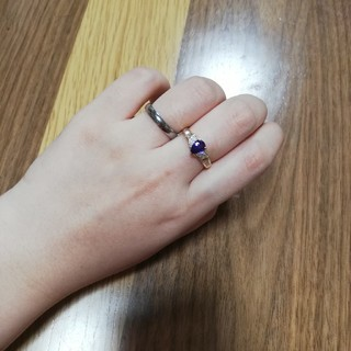 パープルサファイア リング ダイヤモンド(リング(指輪))