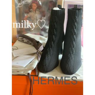 エルメス(Hermes)のHERMES★新品★2019♪ヴォルヴェール ニットブーツ(ブーツ)