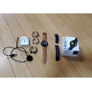 ギャラクシー(Galaxy)の超美品 Galaxy Watch Active2 44mm (アクア・ブラック)(腕時計(デジタル))