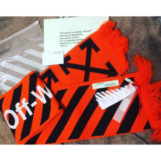 オフホワイト(OFF-WHITE)のOff-White 17AW DIAG ARROWS SCARF(マフラー)