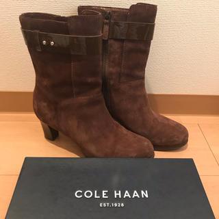 コールハーン(Cole Haan)のコールハーン★スエードブーツ 23.5(ブーツ)