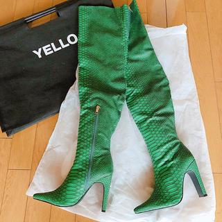 イエローブーツ(Yellow boots)のyellow グリーン ニーハイブーツ(ブーツ)