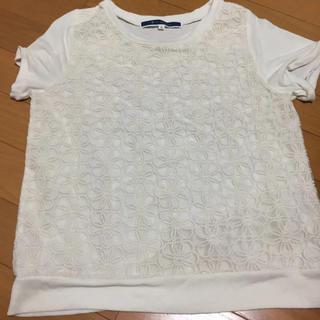 ジエンポリアム Tシャツ トップス レース ホワイト 白