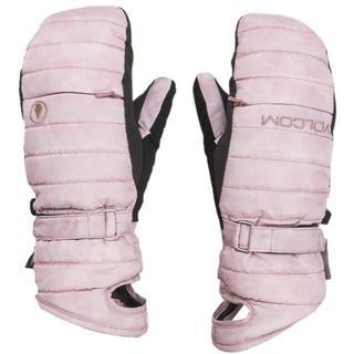 ボルコム(volcom)のボルコム Peep Gore ミトン グローブ 手袋 ピンク ゴアテックス(ウエア/装備)