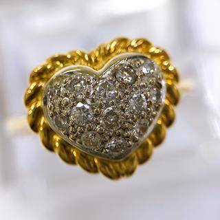 ハートモチーフ♡K18 WG ダイヤモンド リング(リング(指輪))