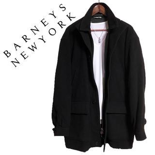 バーニーズニューヨーク(BARNEYS NEW YORK)のBARNEYS NEWYORK チェスターコート ロングジャケット 黒 高級感(チェスターコート)