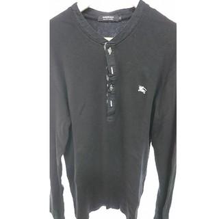 BURBERRY BLACK LABEL - BURBERRY ブラックレーベル ヘンリーネックシャツ