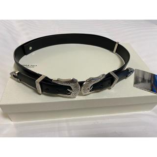 トーガ(TOGA)の【新品】Double buckle belt メタルベルト ブラック(ベルト)