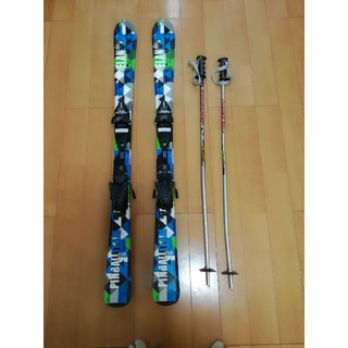 エラン(Elan)のにゃ様専用 スキー板 120cm 子供用 ストック付き(板)