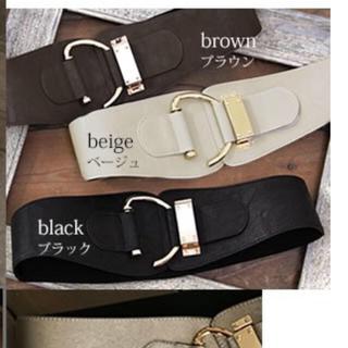 アンティカ(antiqua)のオシャレウォーカー ベルト ブラック 新品未使用タグ付き(ベルト)