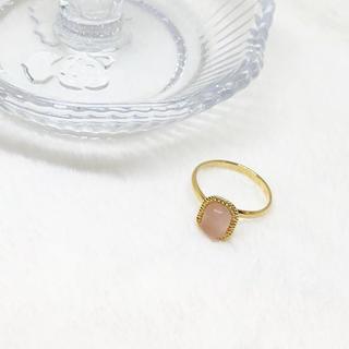 ストーンリング ピンク(リング(指輪))
