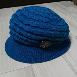 ヴィヴィアンウエストウッド(Vivienne Westwood)のターコイズブルー ヴィヴィアン キャスケット 帽子 ハット (キャスケット)