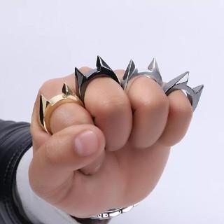 猫耳リング1個(ブラック)メリケンサック(リング(指輪))