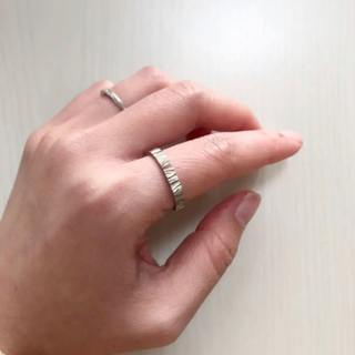 キョウセラ(京セラ)の京セラ REGARO ゼブラ柄 k18WG ピンキーリング 人差し指用リング(リング(指輪))