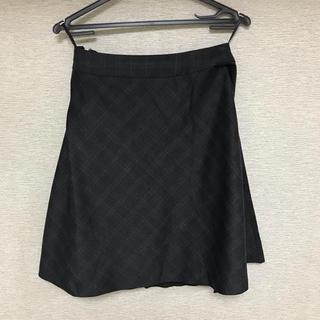 アオキ(AOKI)のチェック フレアスカート P.S.F.A.(ひざ丈スカート)