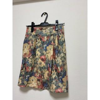 カプリシューレマージュ(CAPRICIEUX LE'MAGE)のCAPRICIEUX LE'MAGE 花柄 スカート(ひざ丈スカート)