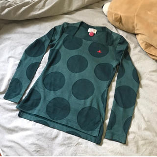 ヴィヴィアンウエストウッド(Vivienne Westwood)のVivienne Westwood ヴィヴィアン ドットロンT オーブ XS 緑(Tシャツ(長袖/七分))