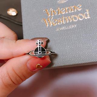 ヴィヴィアンウエストウッド(Vivienne Westwood)の【ケイトリング】ブラック×シルバー katering 11〜12号 sサイズ(リング(指輪))