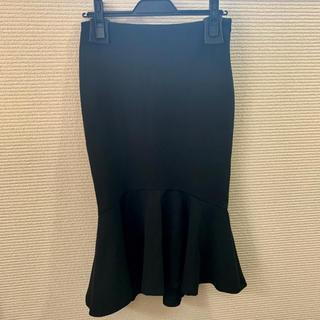 ザラ(ZARA)の【ほぼ新品】ZARA マーメイドスカート(ひざ丈スカート)