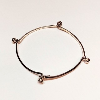 カルバンクライン(Calvin Klein)のカルバン・クライン 銀製ブレスレットストーン付(ブレスレット/バングル)