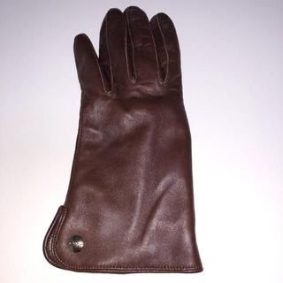 クロエ(Chloe)の本革手袋 ブラウン(手袋)