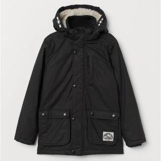 H&M - 新品★H&M★中綿パッテッドパーカー ブラック 140