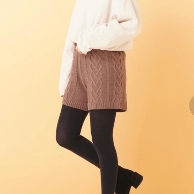 EMSEXCITE(エムズエキサイト)の新品 Emsexcite ショートパンツ 茶色 ベージュ ブランド 秋 冬 韓国 レディースのパンツ(ショートパンツ)の商品写真