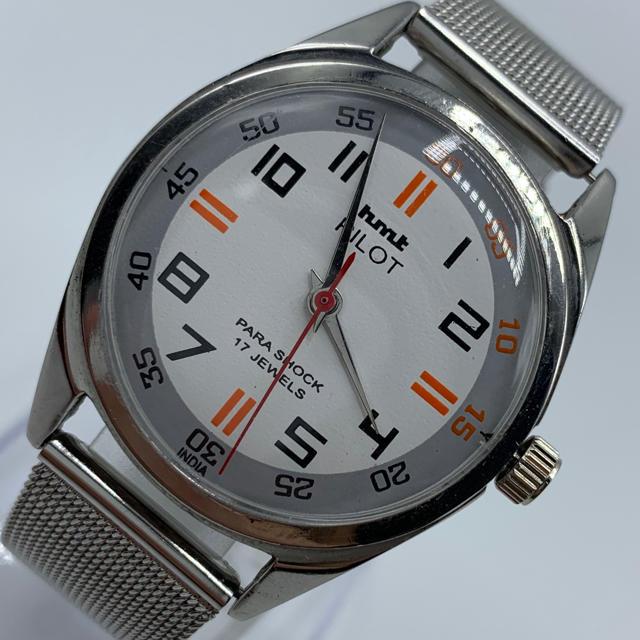 スーパーコピー 時計 ロレックス ヴィンテージ 、 ORIS - 激レア美品◆HMT PILOT /70's/ヴィンテージ腕時計/手巻きウォッチの通販
