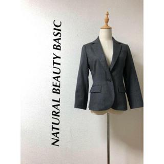 ナチュラルビューティーベーシック(NATURAL BEAUTY BASIC)のNATURAL BEAUTY BASIC ウール混テラードジャケット(テーラードジャケット)