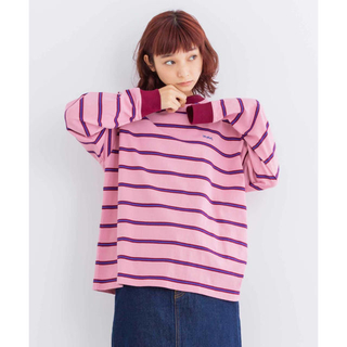 X-girl - エックスガール STRIPED L/S TEE