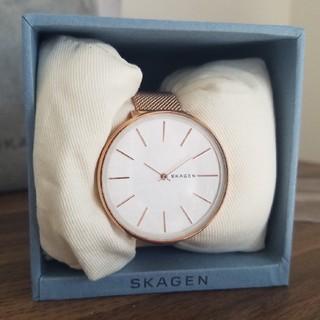 スカーゲン(SKAGEN)の【美品】スカーゲン 腕時計 ピンクゴールド 箱入り(腕時計)
