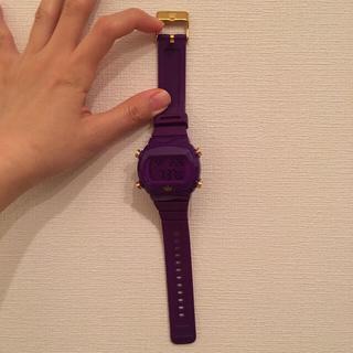 アディダス(adidas)のadidas パープルデジタルウォッチ(腕時計)