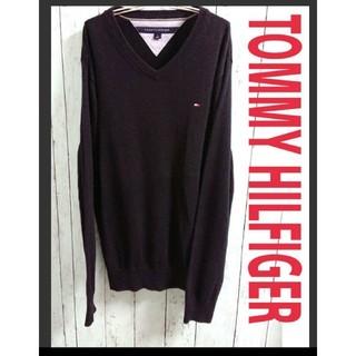 トミーヒルフィガー(TOMMY HILFIGER)のTOMMY HILFIGER トミーヒルフィガー ニット 黒 セーター(ニット/セーター)