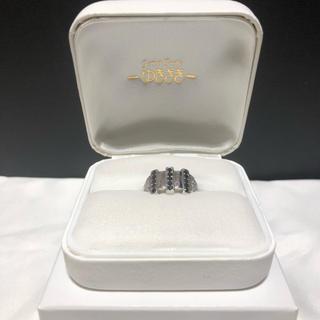 ゆきざき ブラックホワイトダイヤモンドリング14号(リング(指輪))