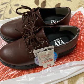 シマムラ(しまむら)の新品 しまむら プチプラのあや 濃赤 レースアップシューズ(ローファー/革靴)
