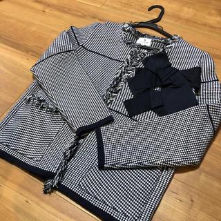 ランバンオンブルー(LANVIN en Bleu)のランバンオンブルー 38ジャケット【美品】(ノーカラージャケット)