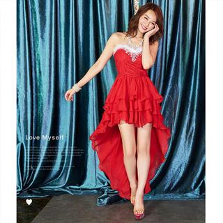 デイジーストア(dazzy store)のDazzy store my dress テールカットビジュードレス(ロングドレス)