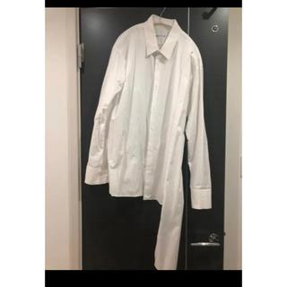 ラッドミュージシャン(LAD MUSICIAN)のLADMUSICIAN  ラッドミュージシャン  白 アシンメトリーシャツ 44(シャツ)