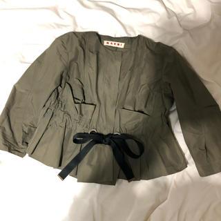 マルニ(Marni)のMARNI ペプラムジャケット(ノーカラージャケット)