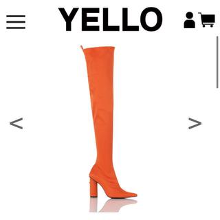 YELLO ロングブーツ オレンジ(ブーツ)