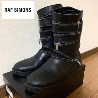 ラフシモンズ(RAF SIMONS)のRAF SIMONS SPIRAL ZIPPER BOOTS 42(ブーツ)