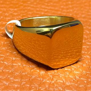 印台 25号 ハンコ 四角 スクエア 指輪 ギフト メンズ  ゴールド 金(リング(指輪))