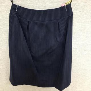 オリヒカ(ORIHICA)のお値下げ中 オリヒカ スーツスカート ストライプ(クリーニング済)(スーツ)