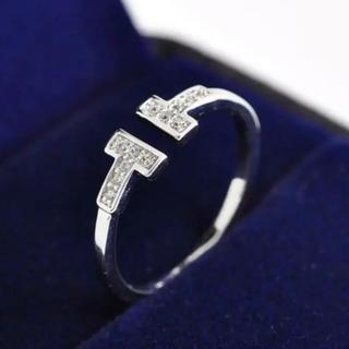 ティファニー(Tiffany & Co.)の大人気❤️ティファニー好き✨T字ワイヤー✨リング✨シルバー(リング(指輪))