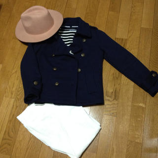 アルシーヴ(archives)の美品☆ネイビージャケットコート(ピーコート)