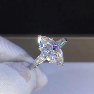 【3カラット】輝くモアサナイト ダイヤモンド リング(リング(指輪))