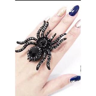 ⭕️SALE⭕️ヌーデンルード新品タグ付きタランチュラビジューリング黒(リング(指輪))